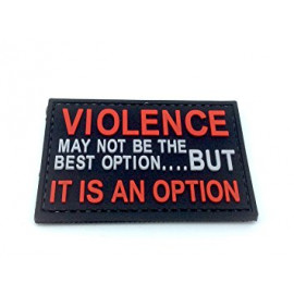Patch PVC VIOLENCE IS AN OPTION