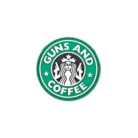 Patch Rond Guns and Coffe