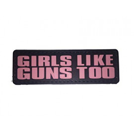 Patch PVC Girls like Guns Too