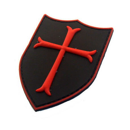 Patch Crusader Cross Rouge